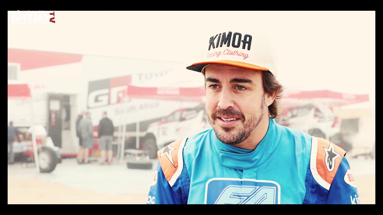Fernando Alonso test drive Dakar 2020
